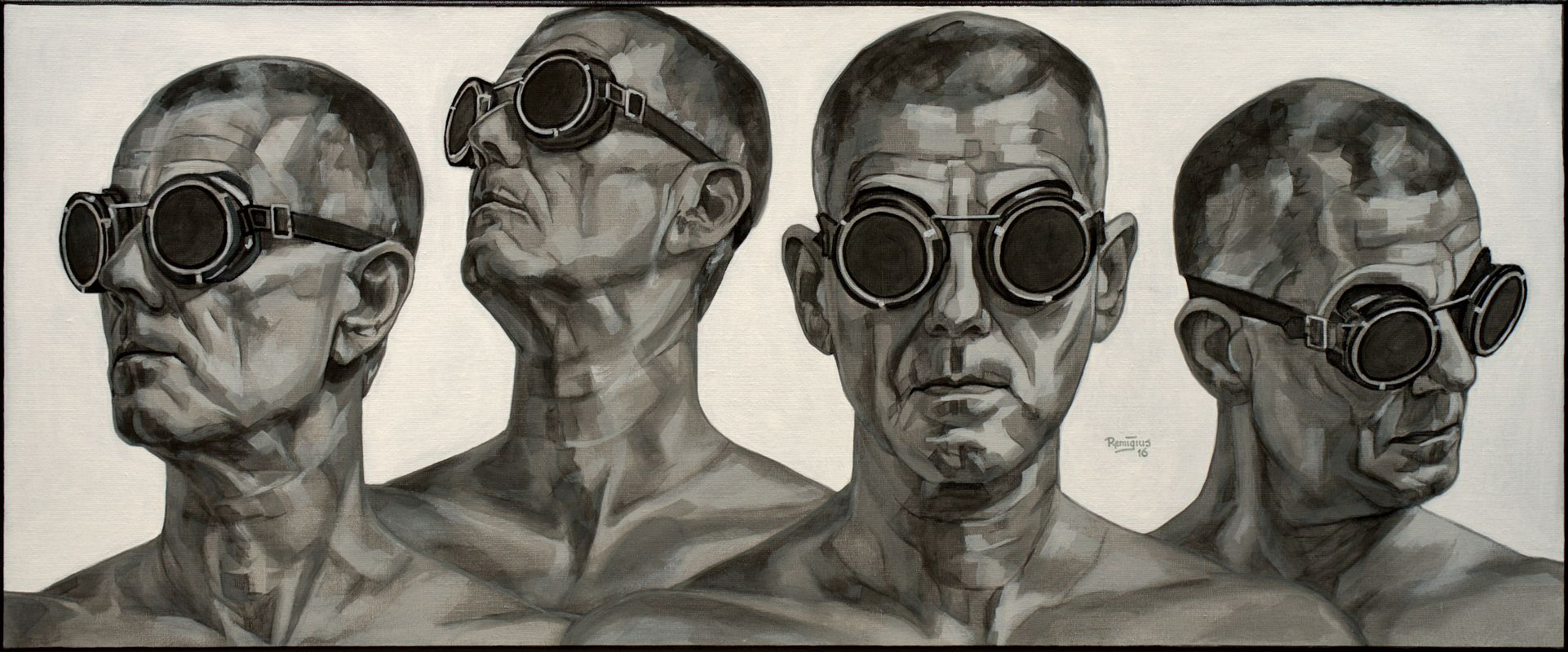 zelfportret zwartwit