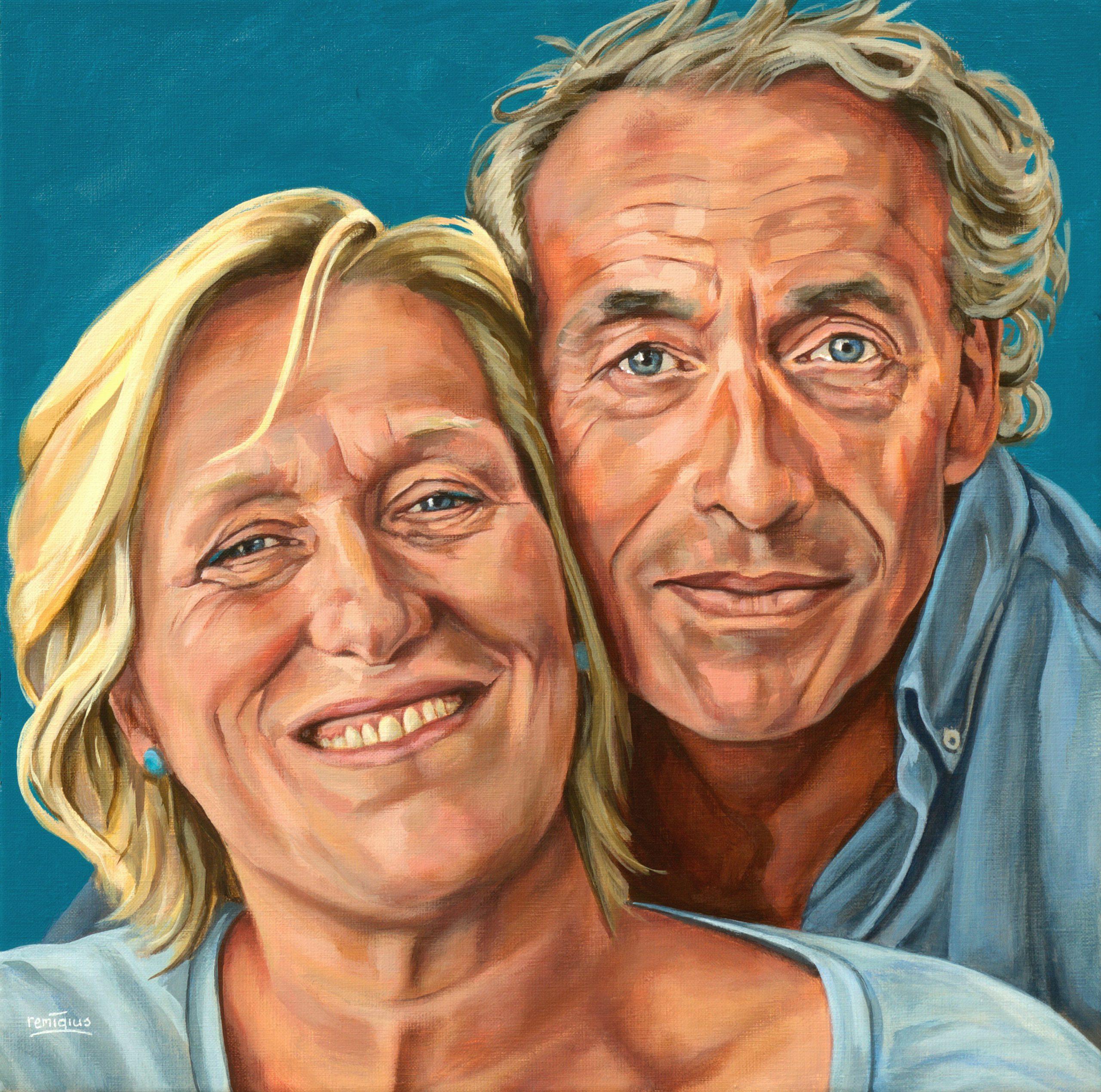 Portret Helen en Theo