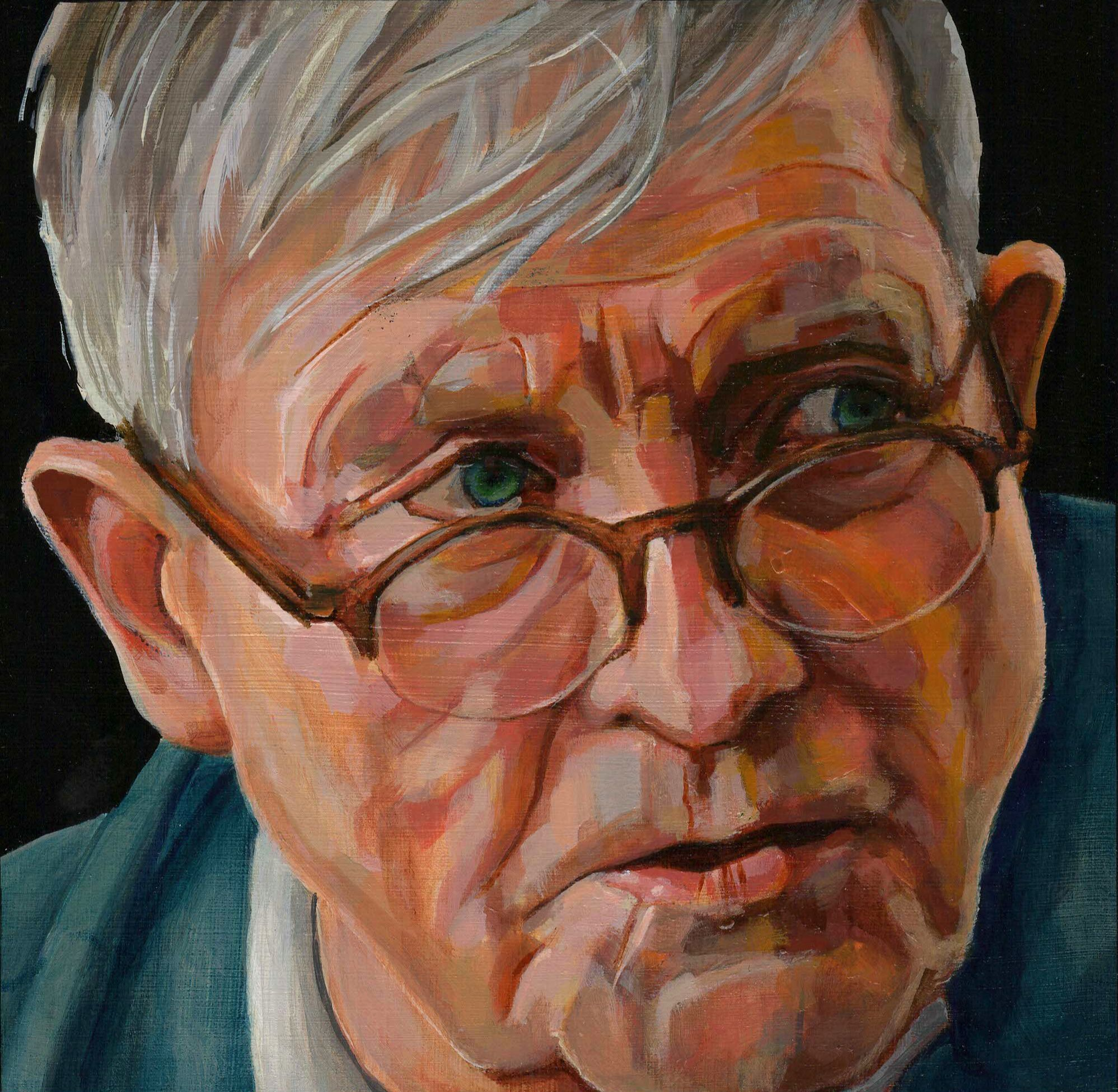 Portret David Hockney