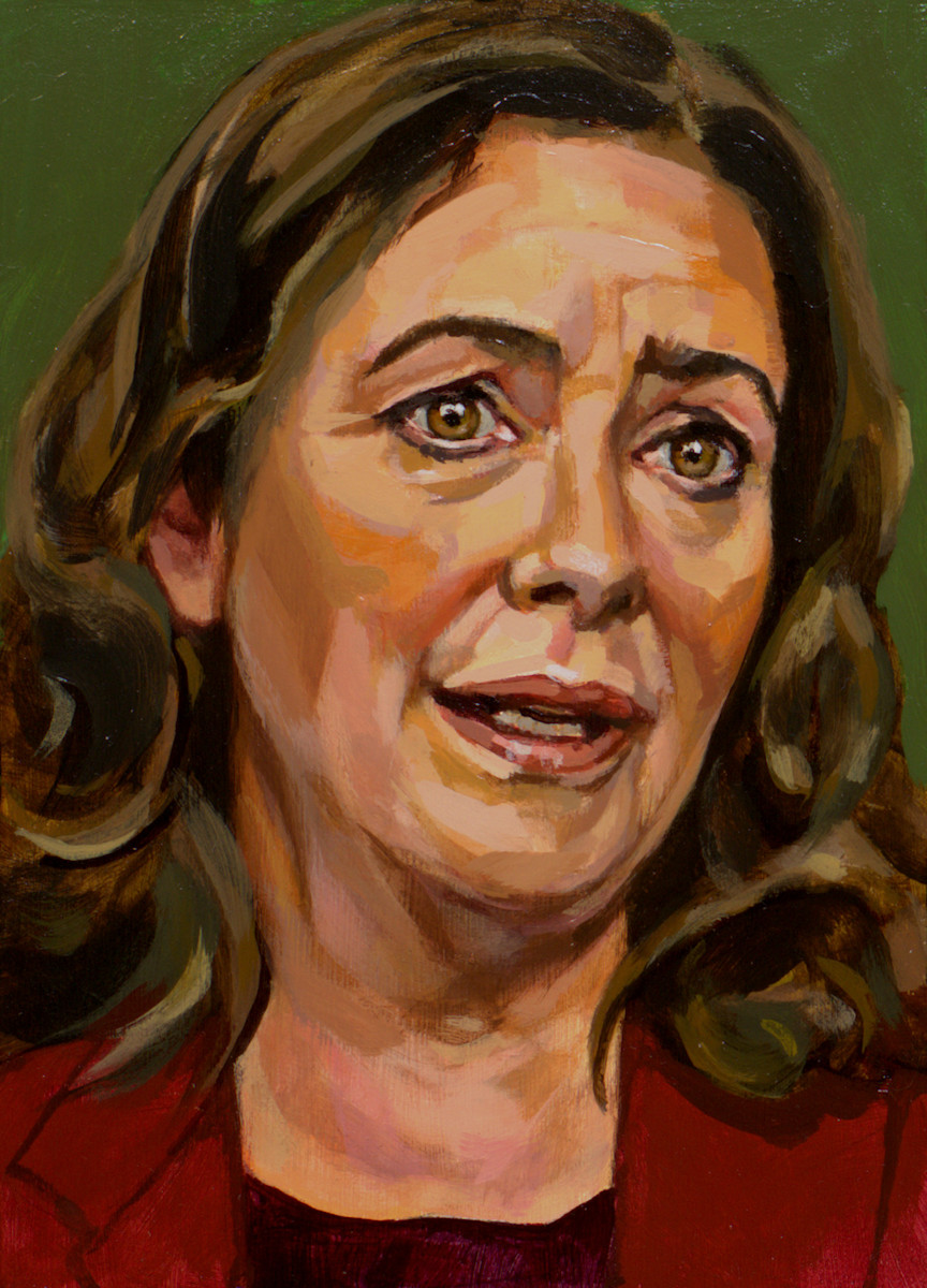 Femke Halsema, portret drieluik links