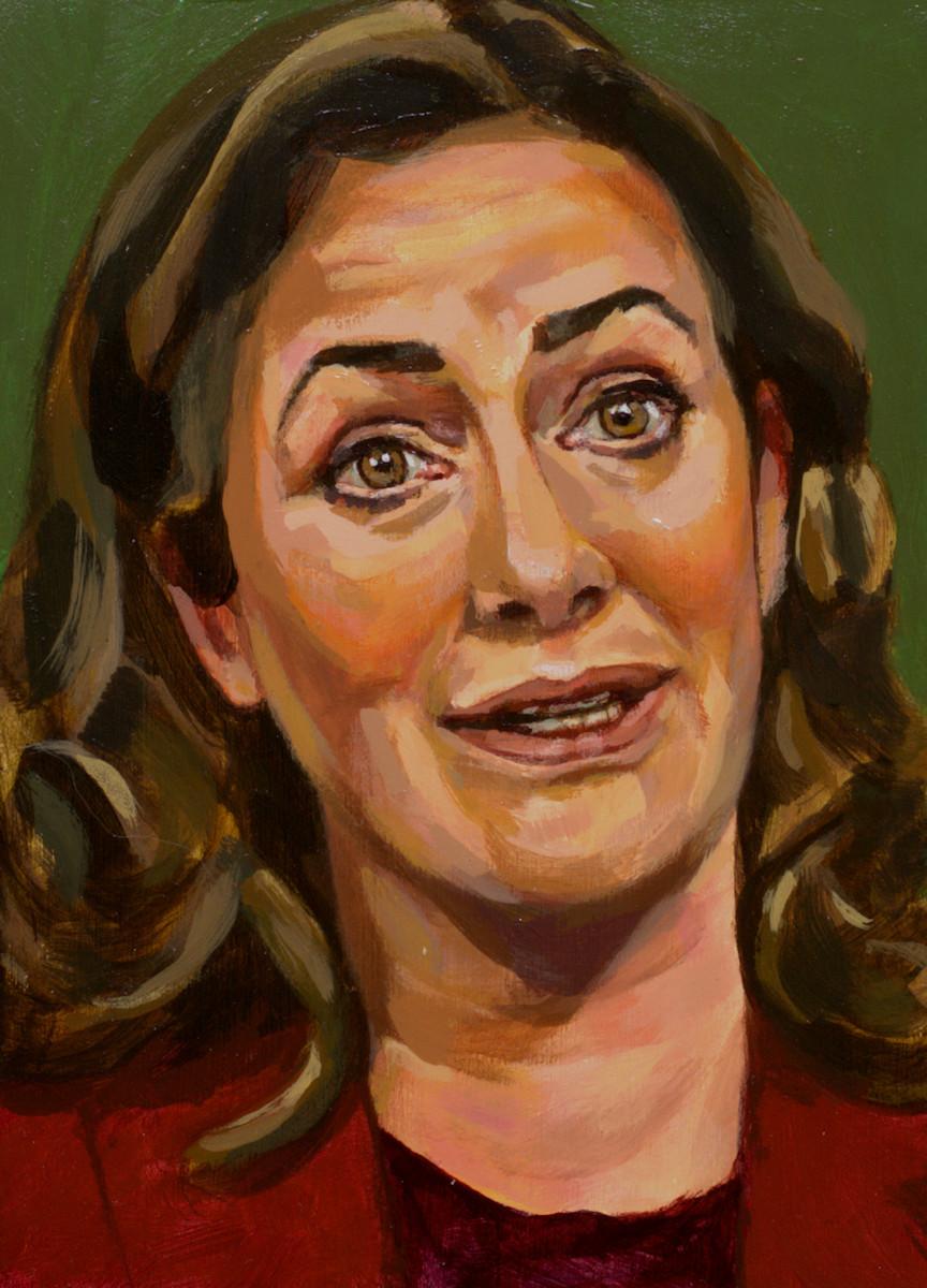 Femke Halsema, portret drieluik midden