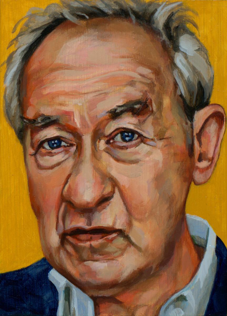 Simon Schama, portret drieluik rechts