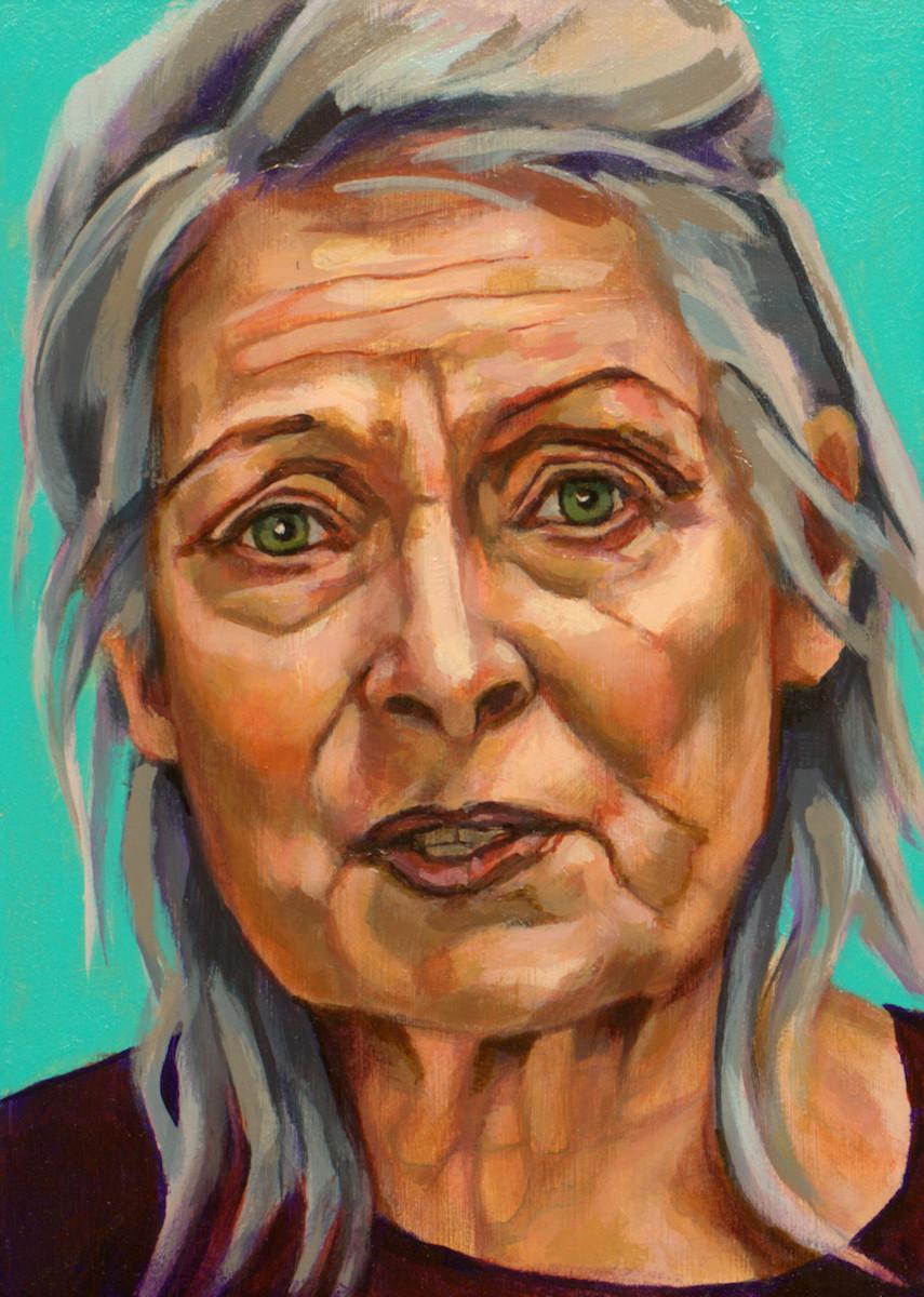 Vivienne Westwood, portret drieluik links